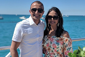 Pooja Patel and her fiance
